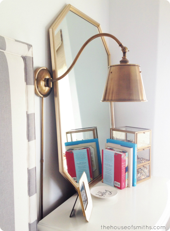 Brass Lighting & an 80 s Thrift Store Mirror - Aka: A Master Bedroom Update