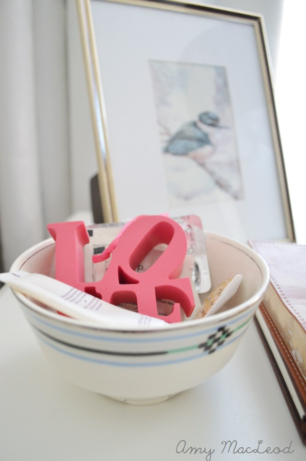 Making your house work for you - bedside table organization