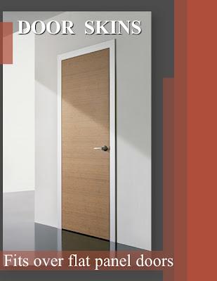 Interior door skins