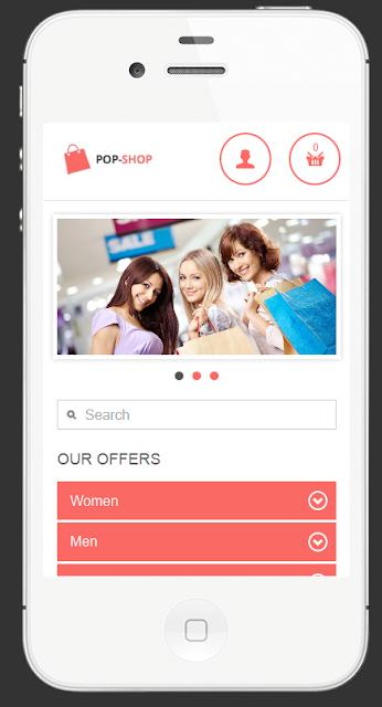 pop shop prestashop mobile template