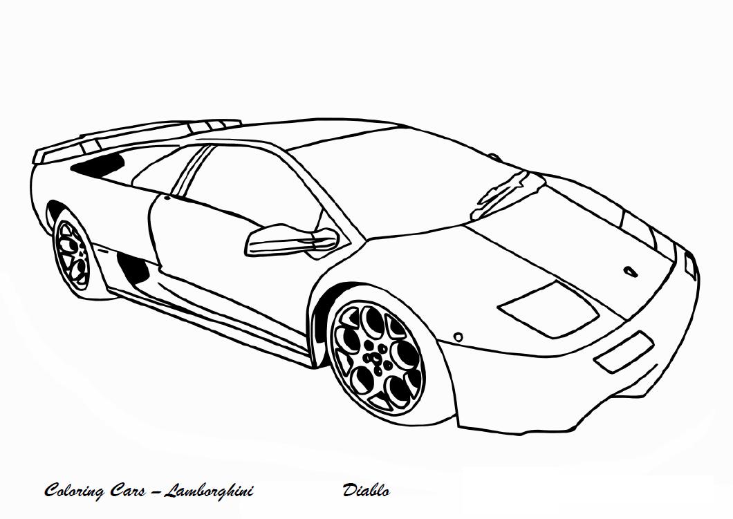 Schede ed attivit didattiche del maestro fabio per la - Profili auto per colorare ...
