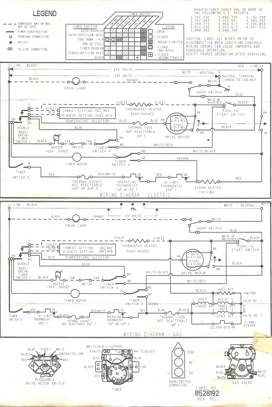 Kenmore Dryer Wiring Diagram Temp Just Another Blog Outlet Fuse Appliance Talk For A Full Rh Applianceoutletservice Com 110 Schematic Model 73952101