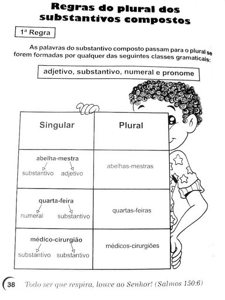 Singular Plural Exerc Cios Atividades 3 4 5 Anos Para Imprimir  -> Atividades Com Substantivos Simples E Composto 4 Ano