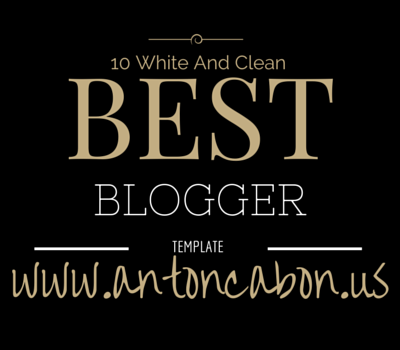 Best 10 White And Clean Blogger Template Versi Antoncabon