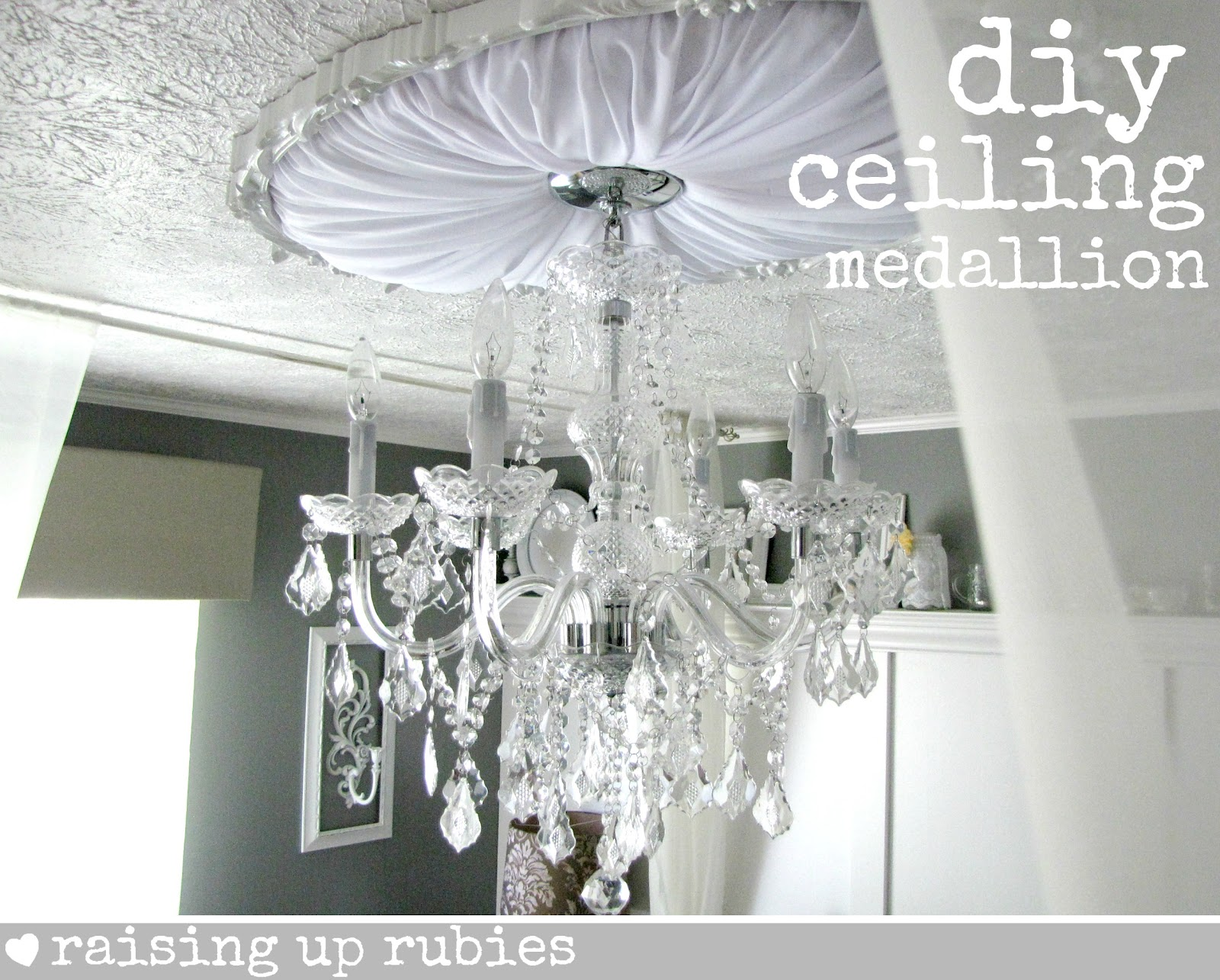 light for pin medallion to through this sunburst ceiling diy do need click tutorial
