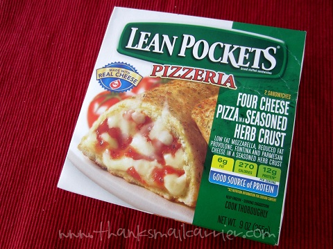 Lean Pockets pizza