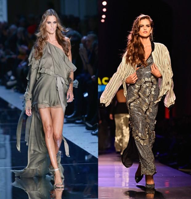 Top brasileira Izabel Goulart desfilou para Jean Paul Gaultier na Semana de Moda de Paris