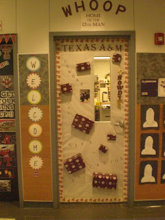 An Aggie From Texas A&m My Blood Is Maroon My Door Says, &Quot;unwrap