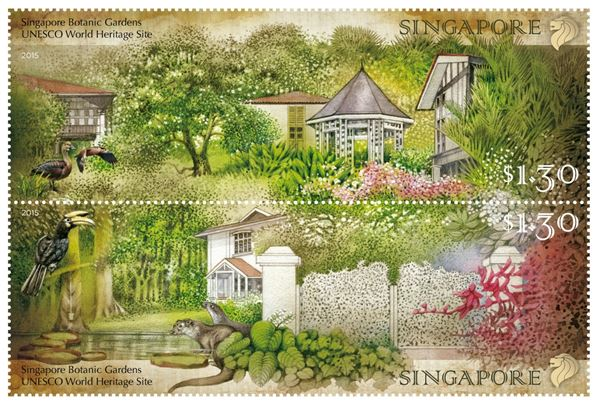 Singapore Botanic Gardens - UNESCO World Heritage Site - Stamp Set