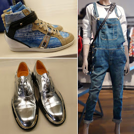 Intermix Frame Le Garcon Boyfriend overalls, Barbara Bui Silver Wingtip Brogue Oxfords & sneakers.