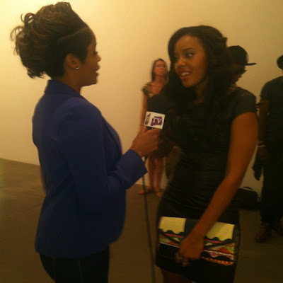 Angela Simmons at New York Fashion Week - iloveankara.blogspot.co.uk