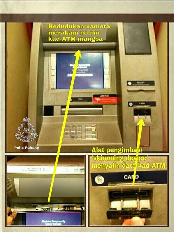 Alert PDRM Bahaya Mesin ATM yang perlu kita tahu