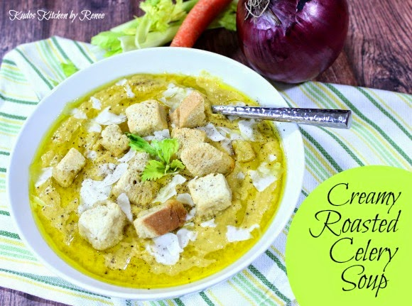 Creamy Roasted Celery Soup Recipe