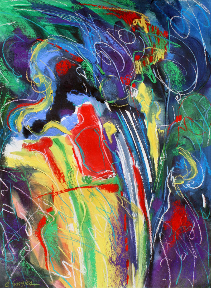 abstract painting by Carol C Abstract Carol
