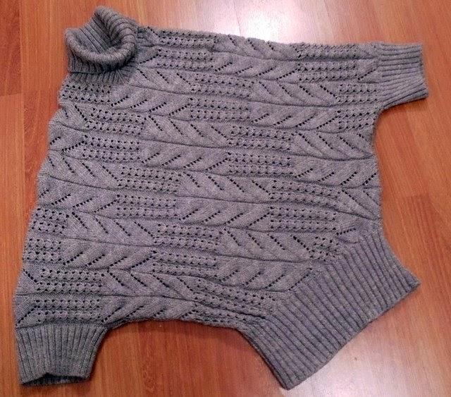 Вязание оригинального свитера спицами 174