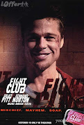Brad Pitt Fight Club. Poster.