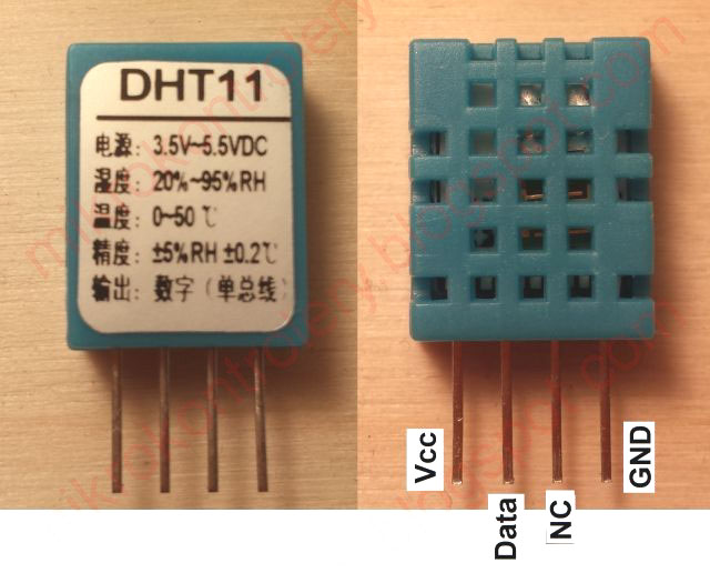 DHT11 - Wygląd czujnika