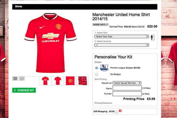 Manchester United accidentally sold new home shirts for just £22