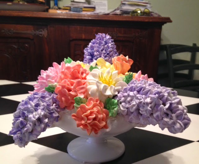 Frosted Art: Spring Bouquet In a Candy Dish- Buttercream -Cake ...