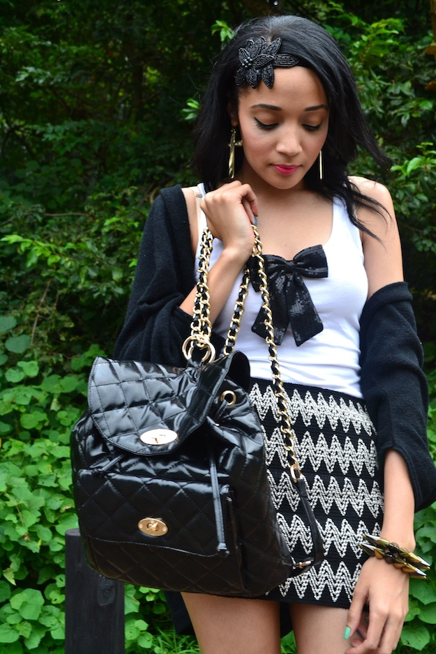 Quilted Bag | Textured Skirt