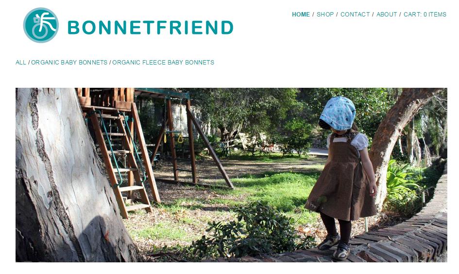 Bonnetfriend organic cotton bonnets for kids