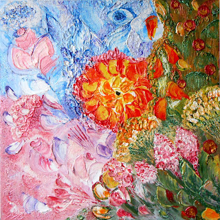"Abstract modern Original Painting from Russia ""Space of Flowers"". Acrylic painting, style abstract on canvas, palette knife. Size 15.7""х 15.7""х 0.7"" (40сm x 40 сm x 1.8сm). Buy this Original Painting at http//www.etsy.com/shop/PaintingInterior Russian modern art this painting  available in a variety of printed styles at  http://painting.fineartamerica.com or http://painting.artistwebsites.com/"