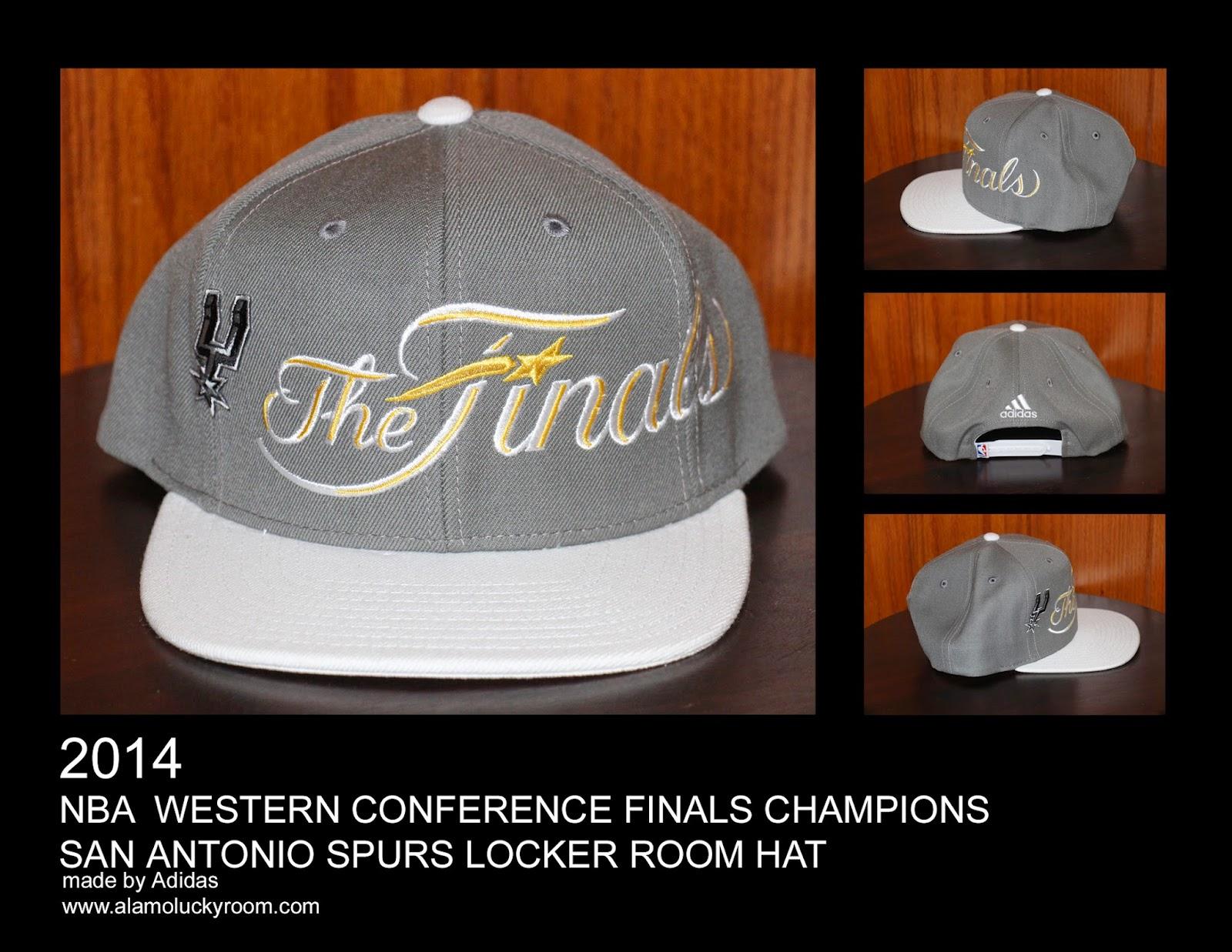 ee34902157e 2014 San Antonio Spurs NBA Western Conference Finals Champions Locker Room  Hat