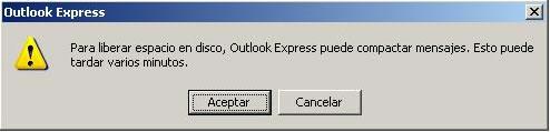 Outlook Express: Compactar mensajes