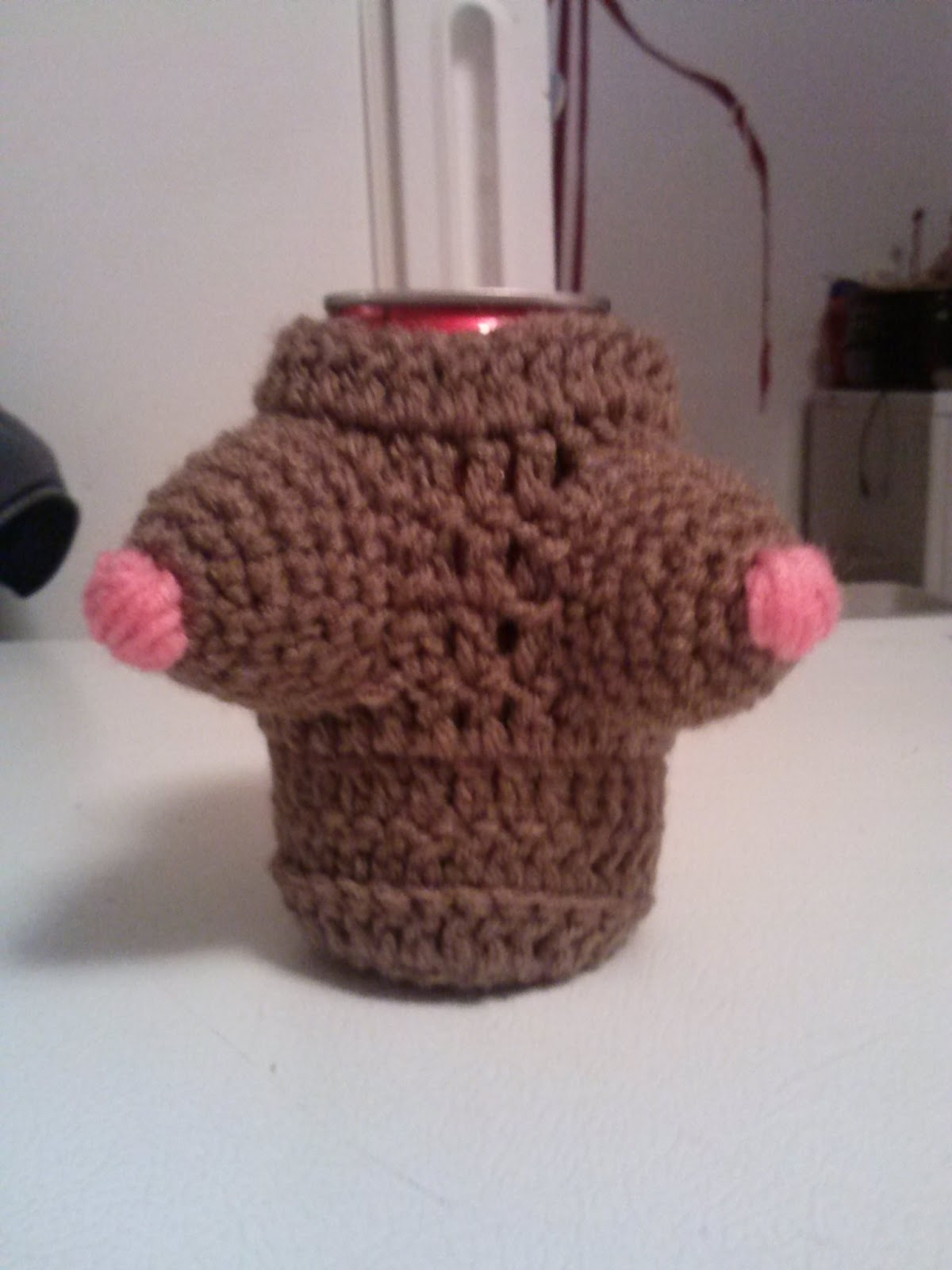 Crochet Patterns For Koozies : Family, Books and Crochet...Oh My!: Boobie Koozies