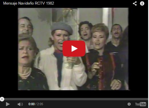 Mensajes de Navidad de RCTV en Videos