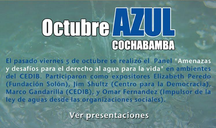 Octubre Azul en Cochamba