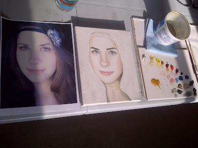 megan mccann, portrait artist, portrait painting, oil painting, beauty art, gems, pearls, blue eyes, art progress pictures