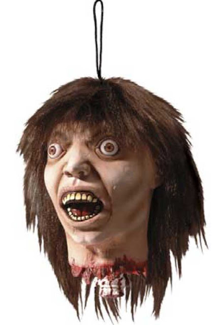 Halloweenpynt mande hoved