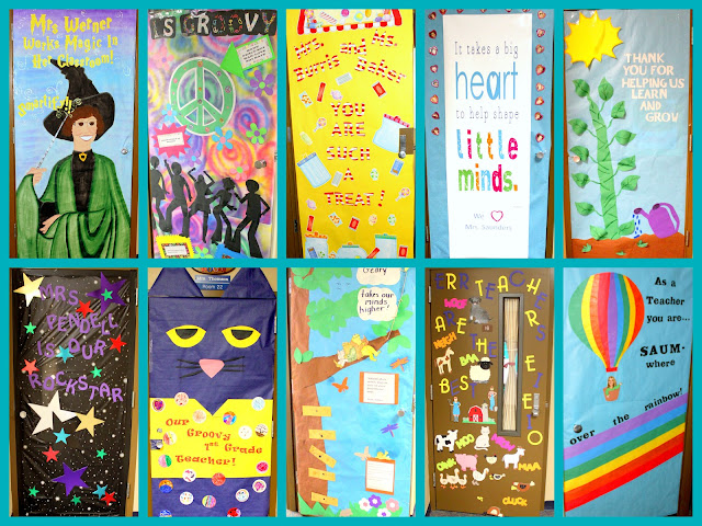 Crafty Sisters: Teacher Appreciation Door Decorations 2013