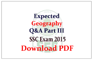 List of Expected Geography Questions and Answers Capsule Download in PDF