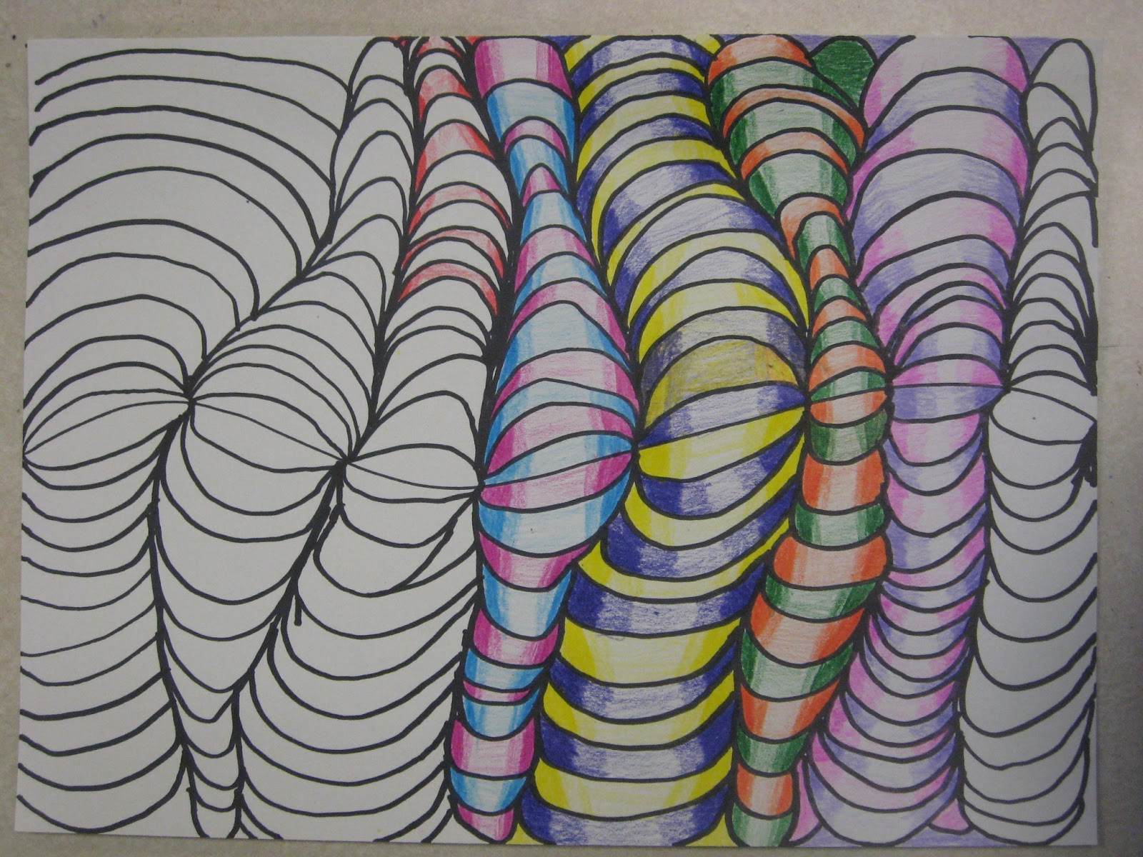 Line Art Grade : Miss young s art room d line design with th grade