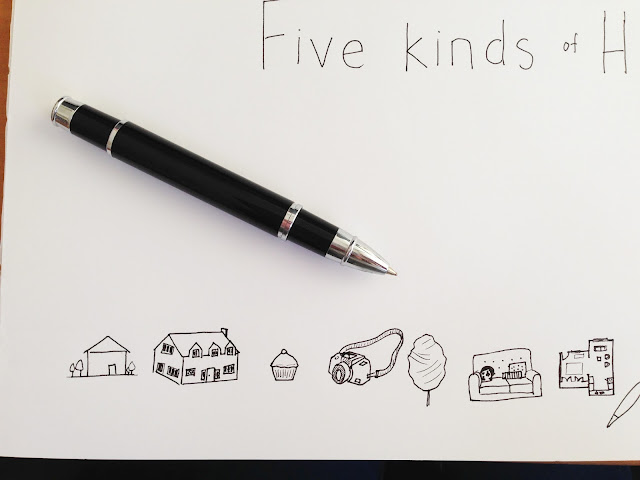 Five Kinds of happy - blog logos by Amy MacLeod