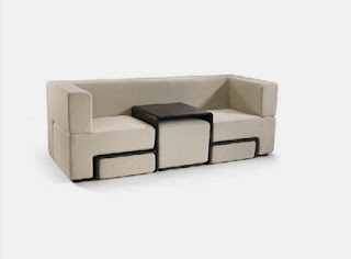 Sofa with integrated table