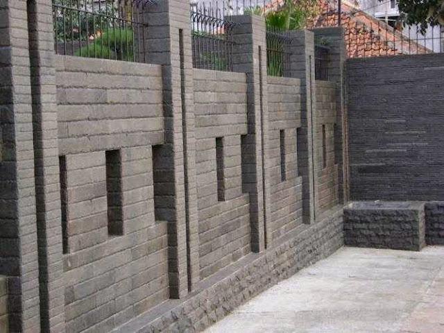 pagar tembok rumah minimalis kokoh