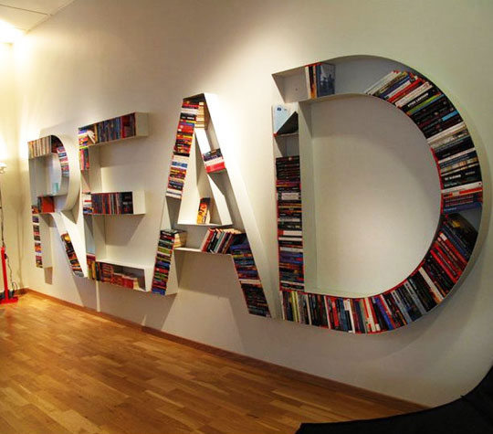 Cool 'READ' Bookshelf