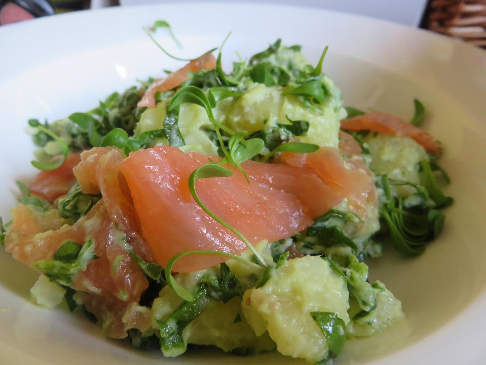 Eva 39 s smulhuisje lauwe salade van aardappel spinazie en for Ver mangeur de salade