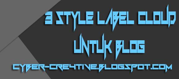 3 Style Label Cloud Untuk Blog