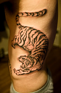 tiger tattoos, tattooing