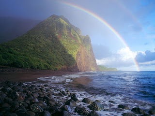Misty Rainbow252C Waialu Valley252C Molokai252C Hawaii   erc