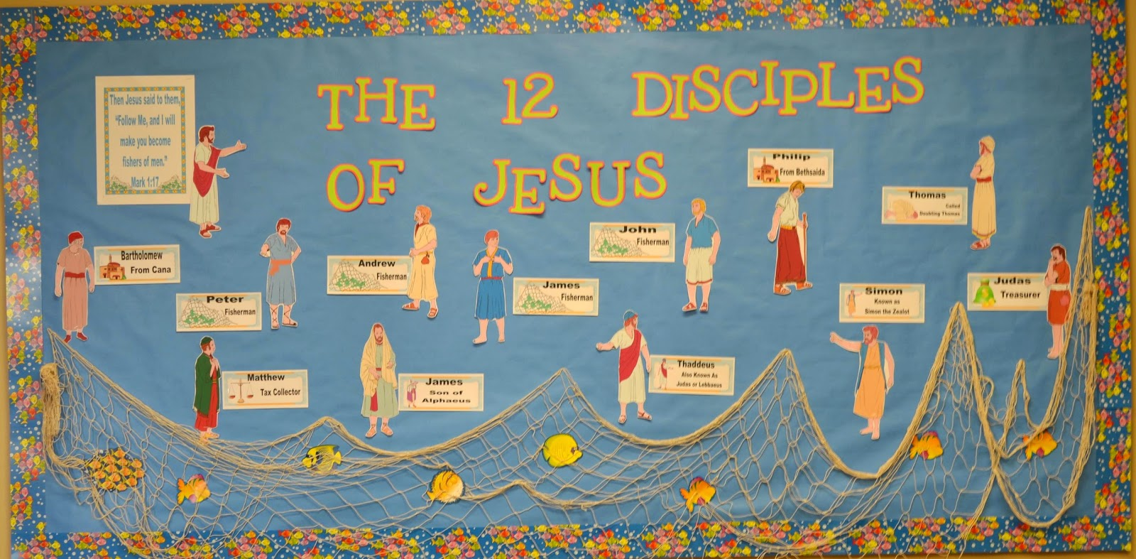 Bible Fun For Kids: Bulletin Board for the 12 Apostles of Jesus
