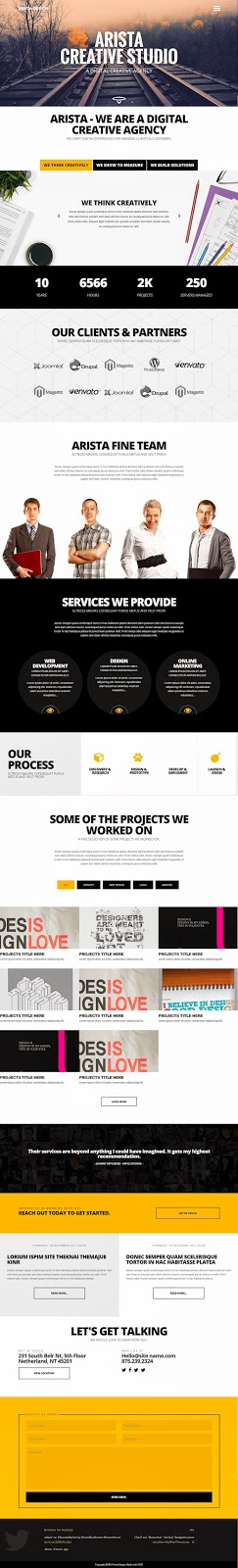 Creative One Page Joomla Bootstrap Template