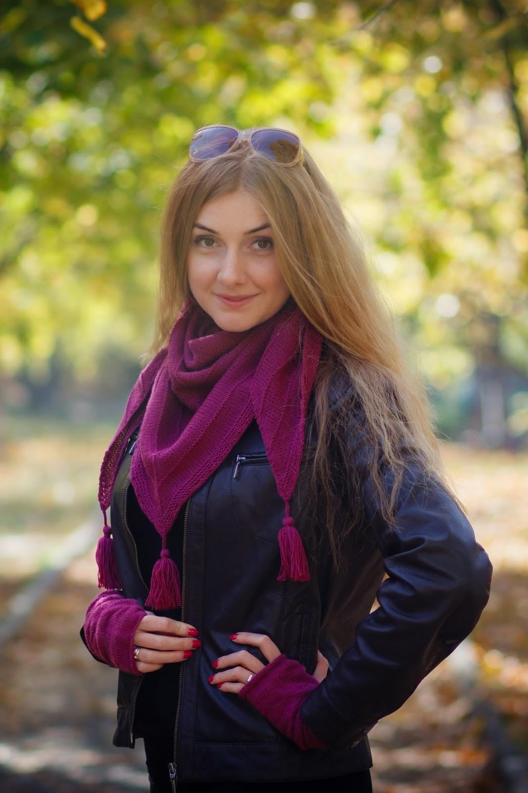 Alize Cashmira Fine бактус фуксия митенки