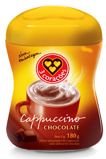 Cappuccino 3 Corações reformula sua embalagem