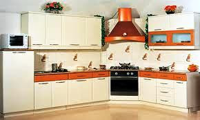 wooden laminated kitchen with corian top
