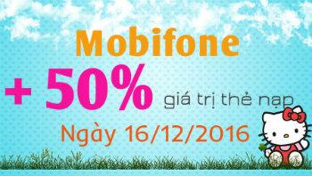 Khuyến mãi nạp thẻ mobifone